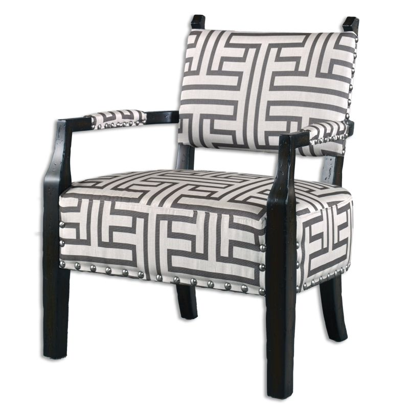 Uttermost 23217 Terica Fabric Chair Designed by Carolyn Kinder Off