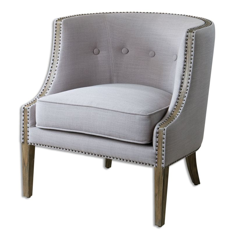 Uttermost 23220 Gamila Fabric Chair Designed by Carolyn Kinder Light