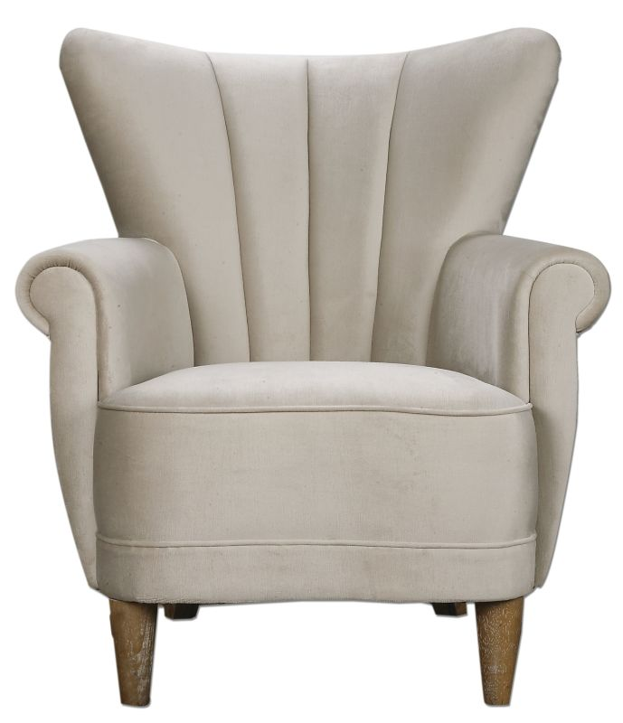 Uttermost 23231 Franchette Chair Designed by Jim Parsons White