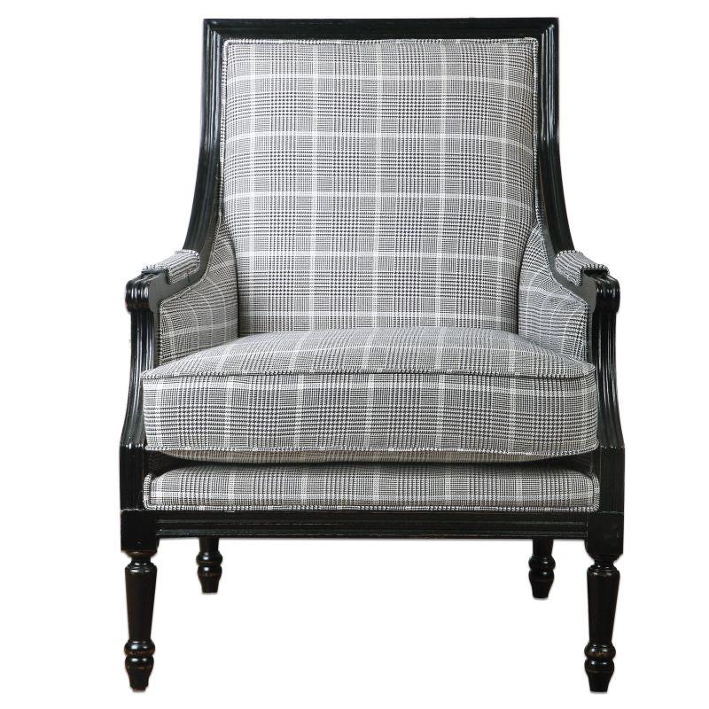 Uttermost 23233 Scott Chair Designed by Jim Parsons Aged Black