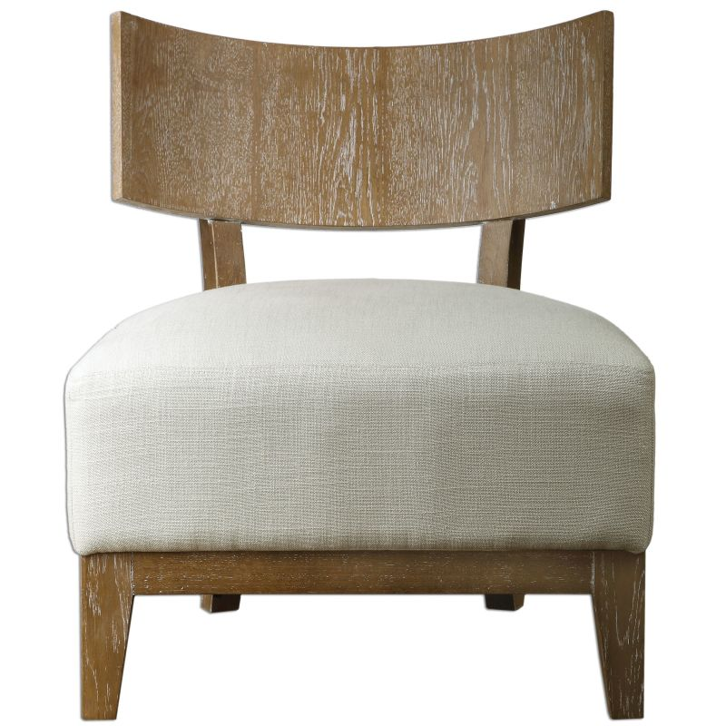 Uttermost 23238 Gaige Chair Designed by Jim Parsons Whitewashed Oak
