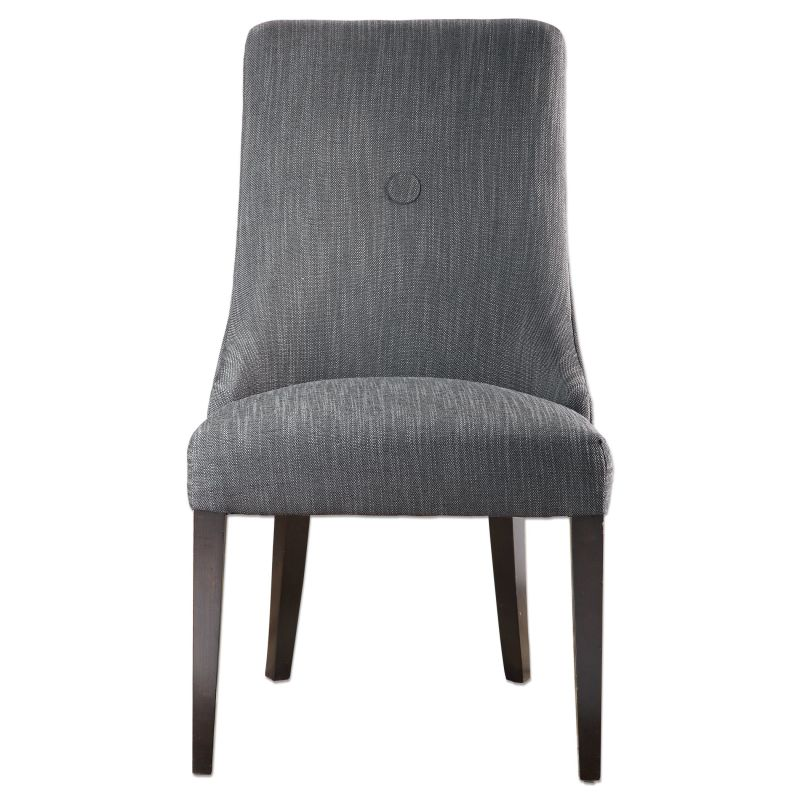 Uttermost 23240 Patamon Chair Designed by Jim Parsons Charcoal Gray