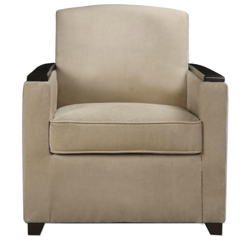 Uttermost 23243 Kempton Chair Designed by Jim Parsons Creamy Tan
