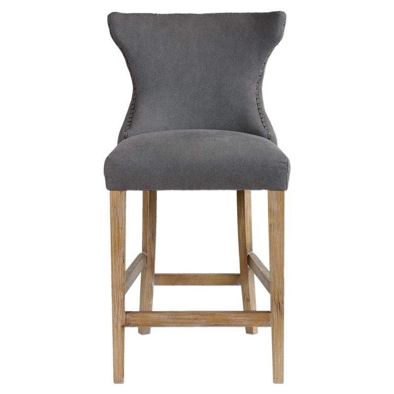 Uttermost 23244 Gamlin Chair Designed by Jim Parsons Stonewashed Gray