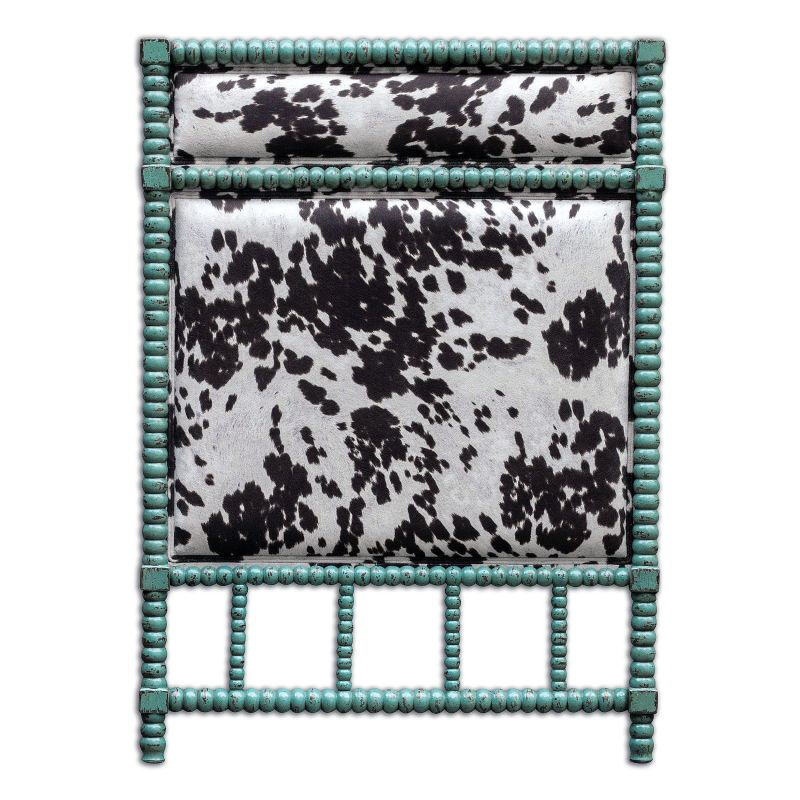"Uttermost 23704 Chahna 57"" x 41"" Rubber Wood Headboard Aqua Blue"