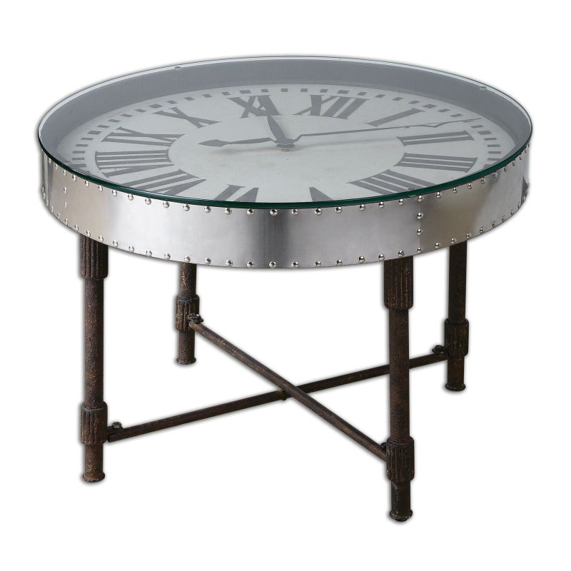 Uttermost 24321 Cassem Industrial Metal Clock Table Riveted Aluminum Sale $481.80 ITEM: bci2548475 ID#:24321 UPC: 792977243213 :