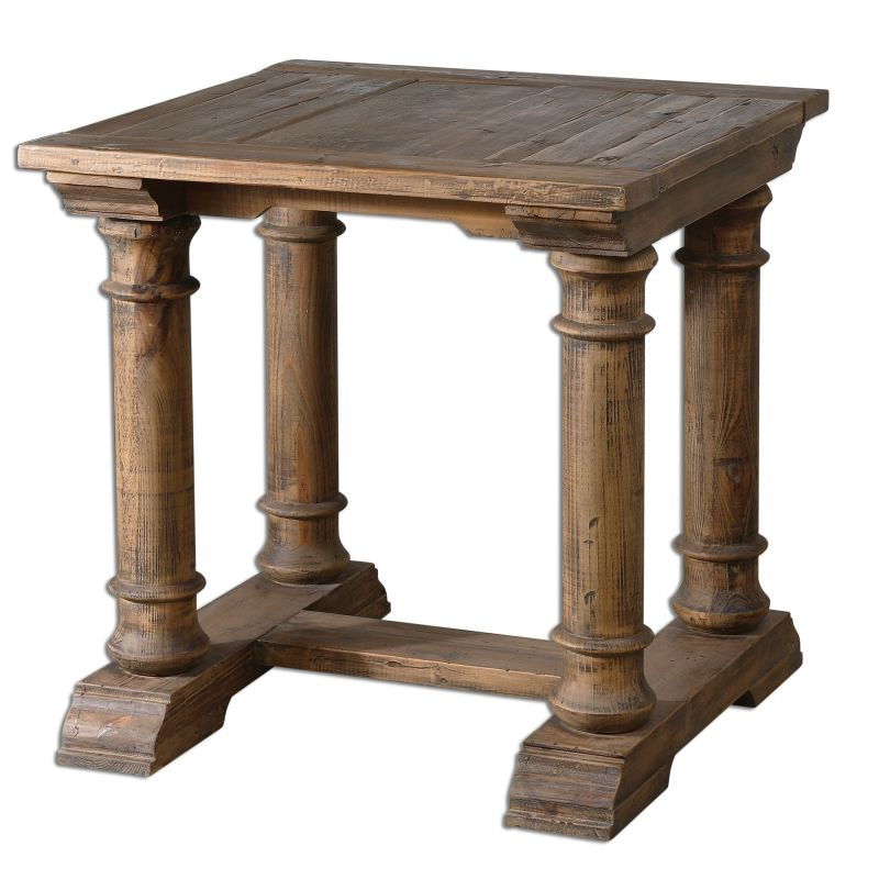 """Uttermost 24341 Saturia 28""""W Reclaimed Fir Accent Table Wood Furniture"""