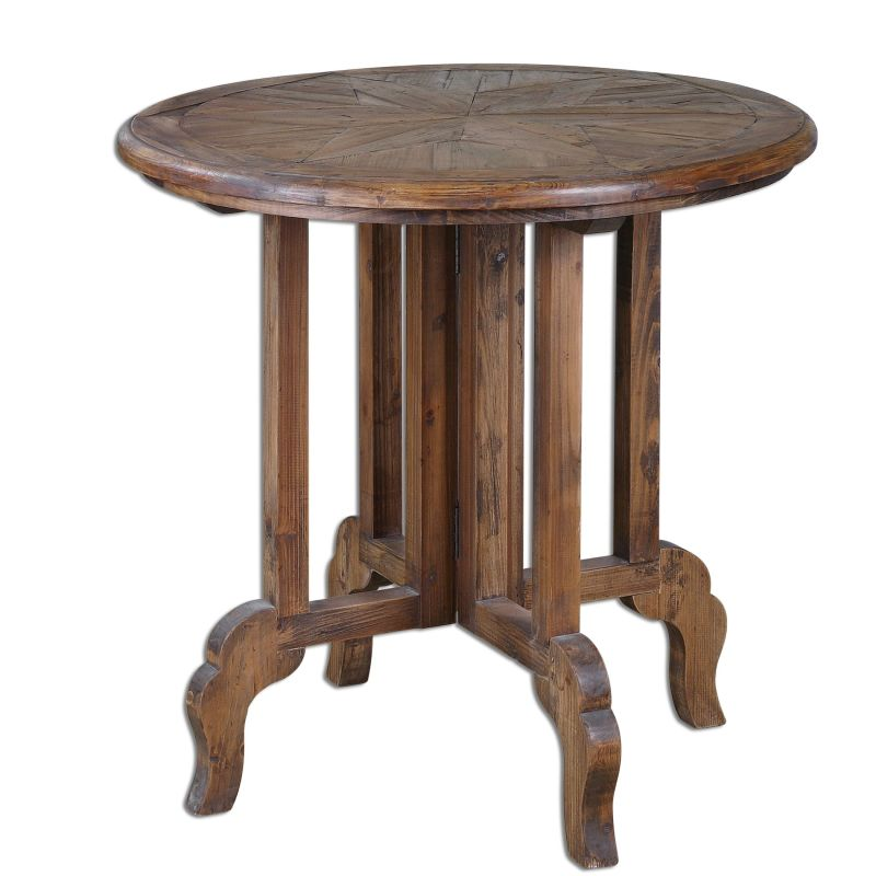 """Uttermost 24372 Imber 31.5""""W Solid Fir Accent Table Wood Furniture End"""