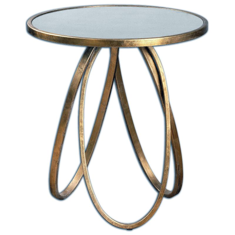 "Uttermost 24410 Montrez 27"" x 24"" End Table Gold Leaf Furniture End"