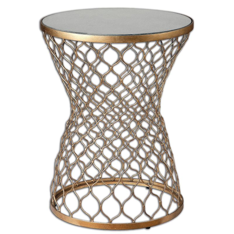 "Uttermost 24422 Naeva 23"" x 18"" End Table Gold Leaf Furniture End"