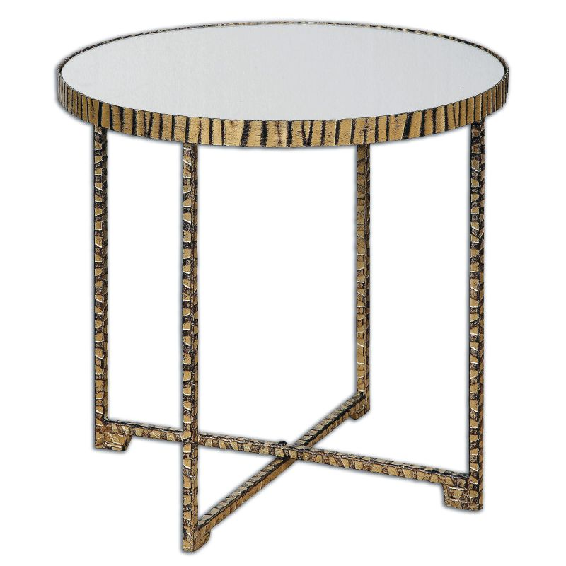 "Uttermost 24433 Myeshia 20"" x 20"" End Table Bright Gold Furniture End"
