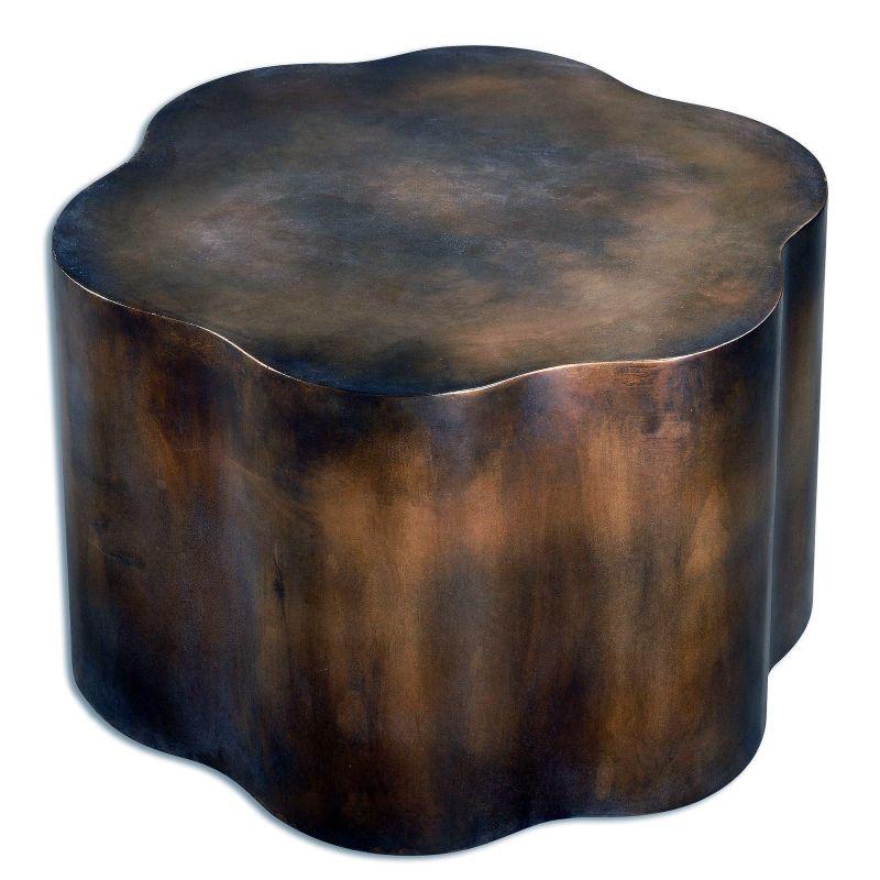 "Uttermost 24445 Sameya 18"" x 26"" Accent Table Oxidized Copper"