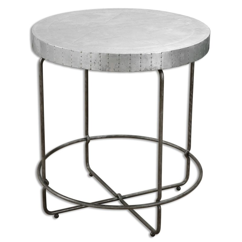 Uttermost 24455 Amiano Iron Stand Designed by Jim Parsons Zinc Wrapped