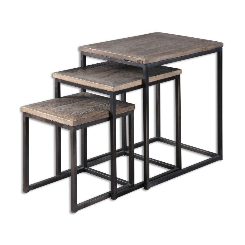 Uttermost 24460 Bomani Iron Stand Designed by Jim Parsons Dark Iron