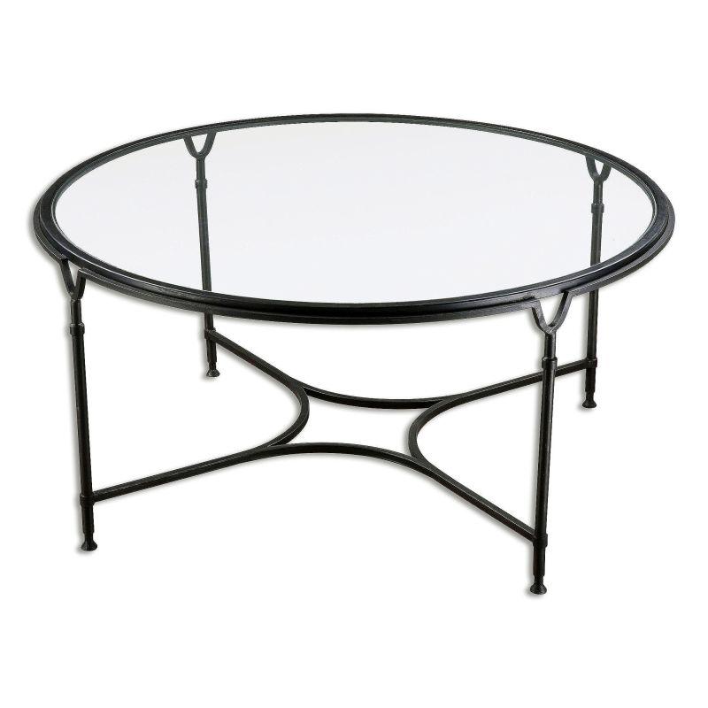Uttermost 24468 Samson Coffee Table by Matthew Williams Black Steel