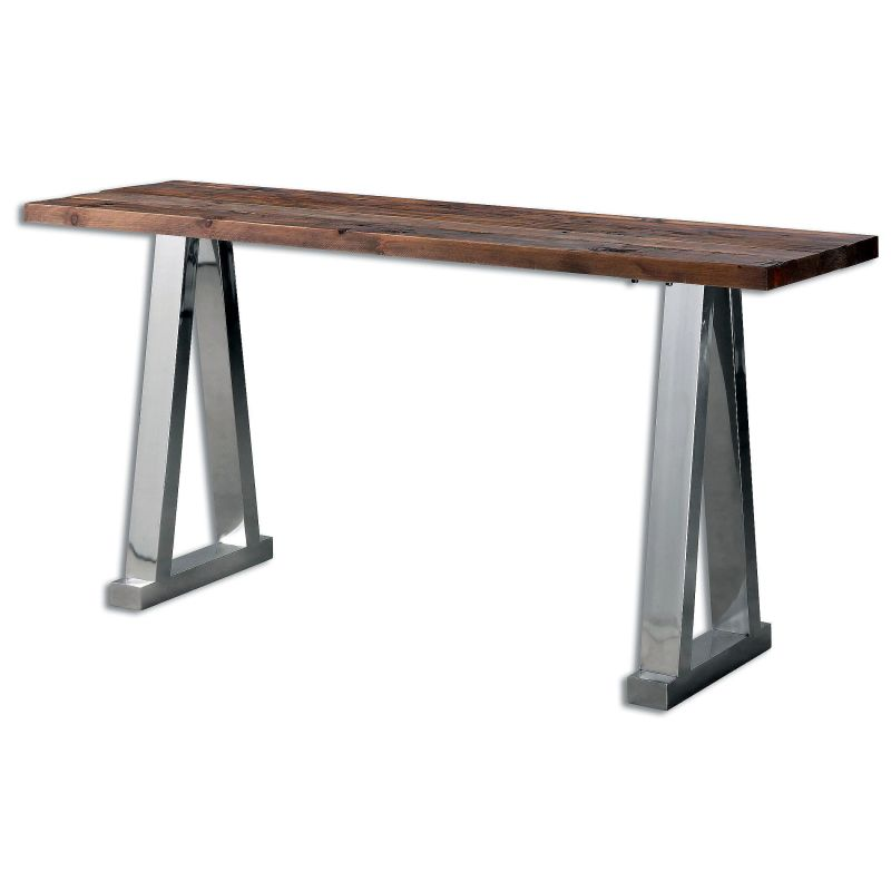 """Uttermost 24487 Hesperos 30"""" x 63"""" Reclaimed Wood Console Table"""