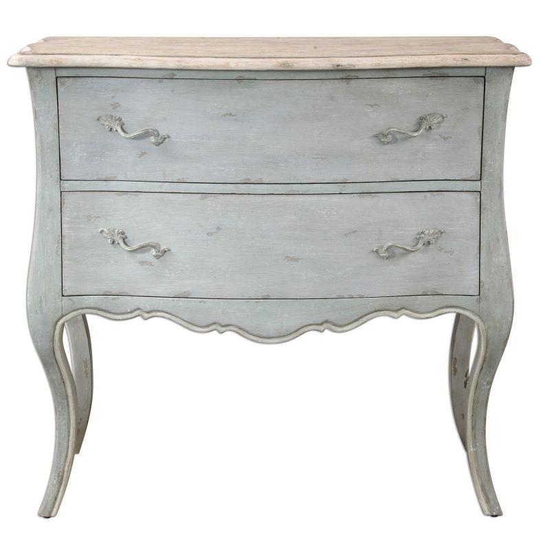 Uttermost 24527 Ferrand Dresser Designed by Jim Parsons Soft Gray