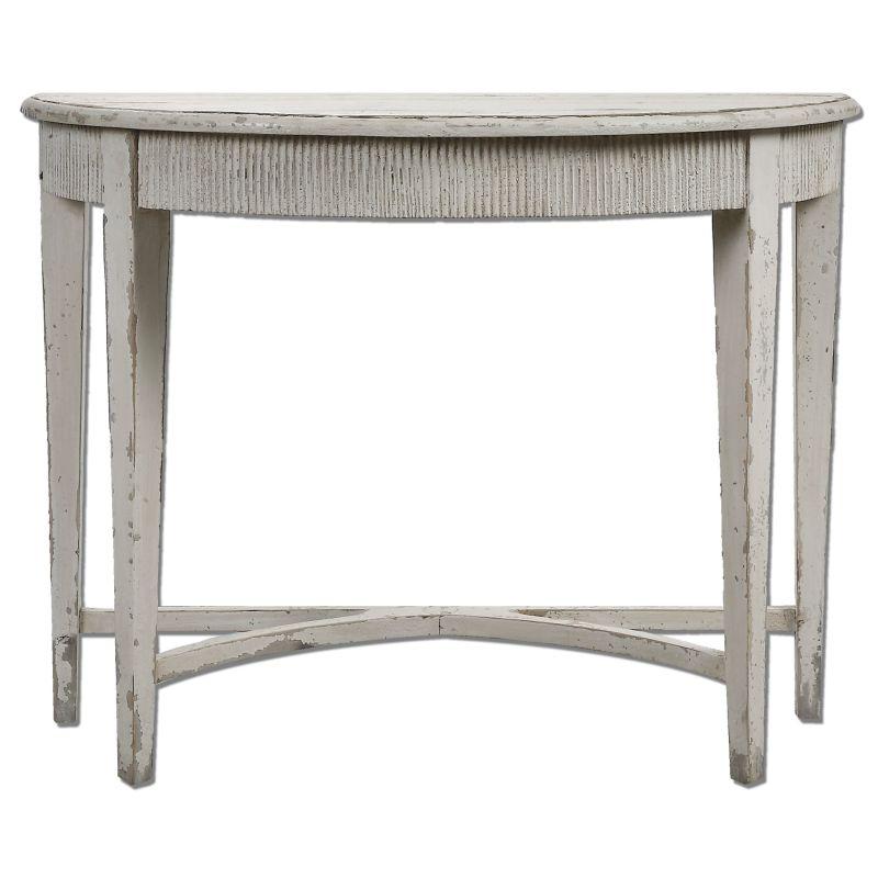 Uttermost 24535 Parisio Console Table Designed by Jim Parsons Antique