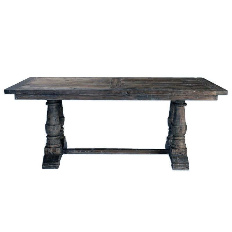 "Uttermost 24557 Stratford 30"" x 76"" Solid Wood Coffee Table Grey Wash"