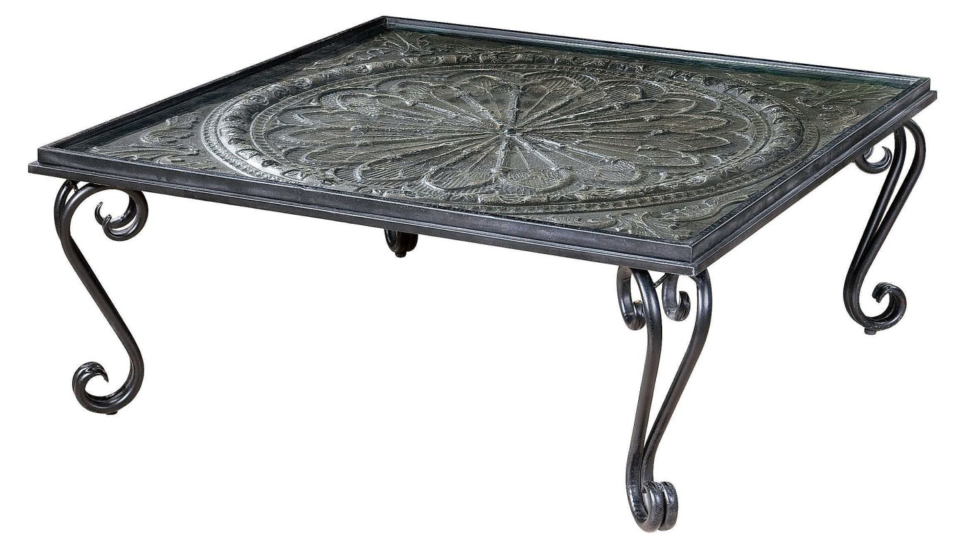 "Uttermost 24590 Ottavio 18"" x 45"" Coffee Table Charcoal Brown"