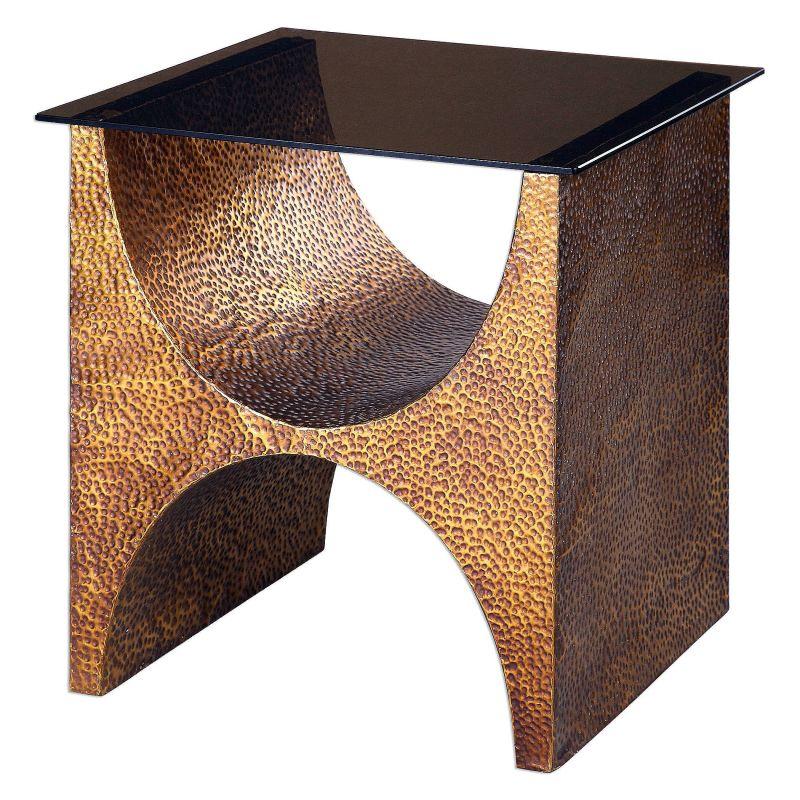 "Uttermost 24618 Rafaele 25"" x 22"" Accent Table Copper Furniture Accent"