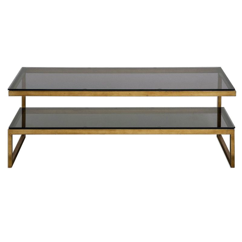 "Uttermost 24619 Adeen 18"" x 48"" Console Table Antique Gold Furniture"