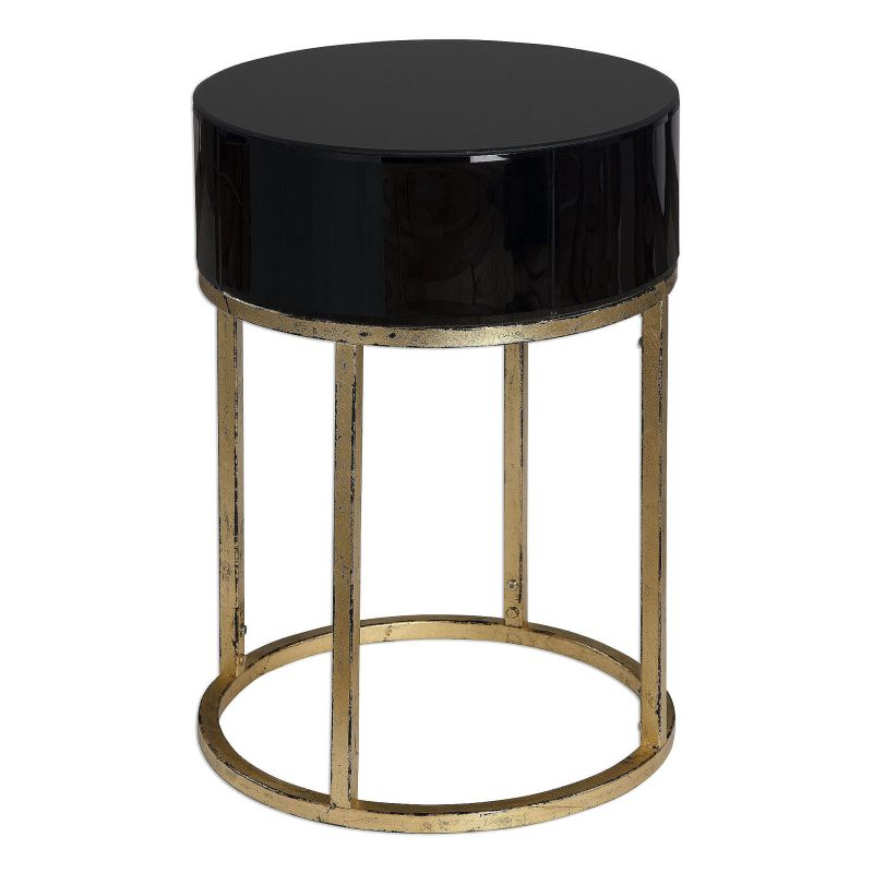 "Uttermost 24642 Myles 26"" x 18"" Accent Table Antiqued Gold Furniture"