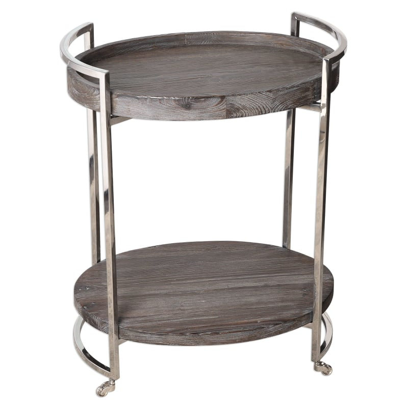 Uttermost 24683 Colin 24 Inch Wide Pine Wood Top Stainless Steel