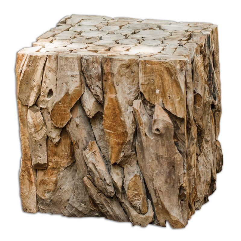 Uttermost 25592 Teak Root Bunching Cube Reclaimed Teak Furniture