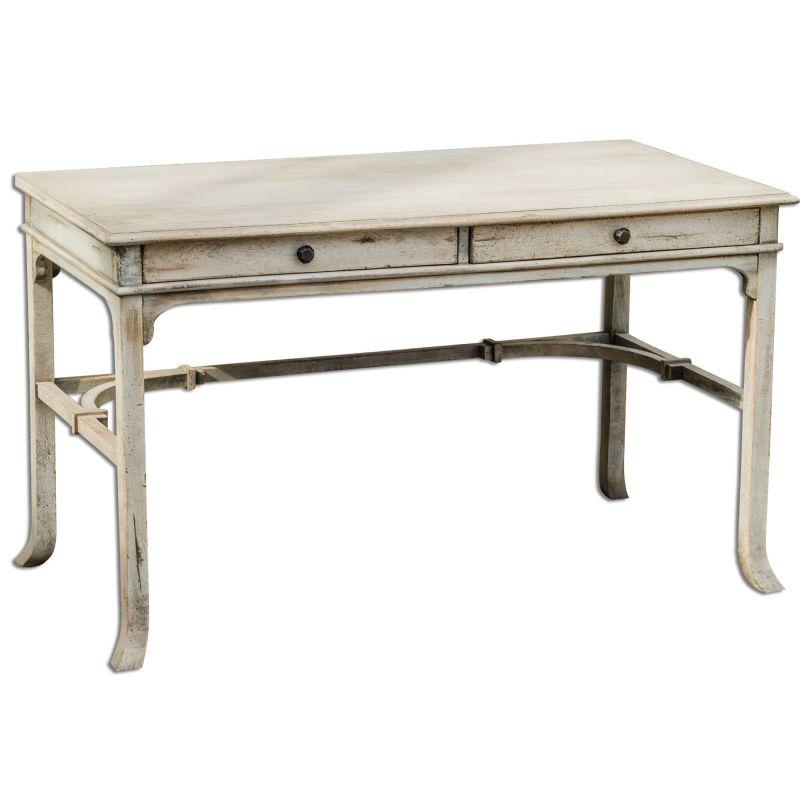 Uttermost 25602 Bridgely Mango Wood Writing Desk Distressed Wood