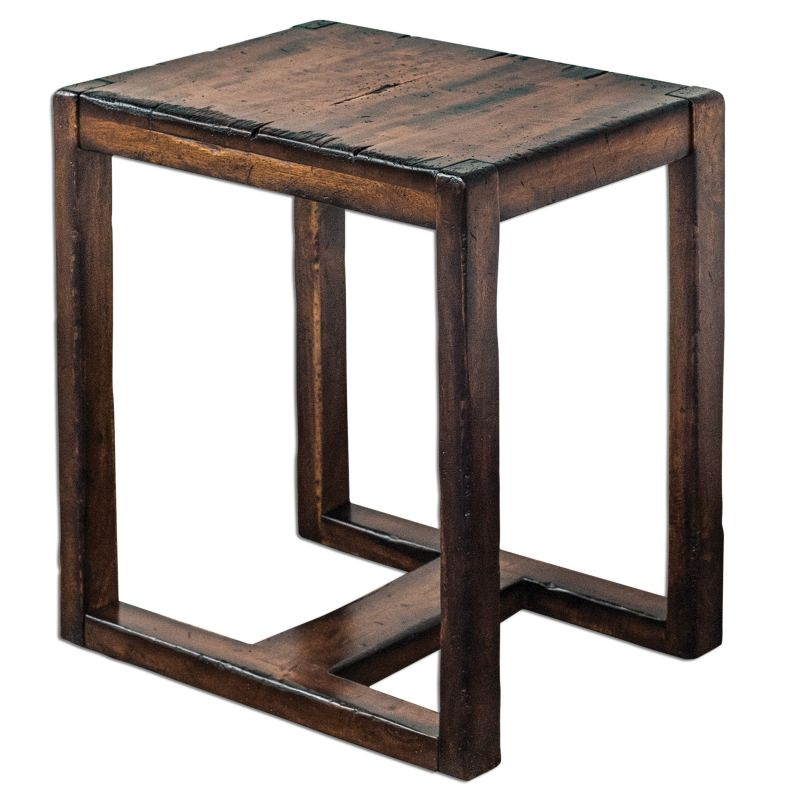 "Uttermost 25604 Deni 24""W Mango Wood Accent Table Wood Furniture End"