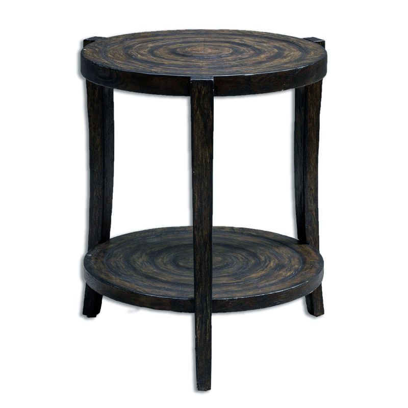 """Uttermost 25653 Pias 26"""" x 24"""" End Table Smoked Java Furniture End"""
