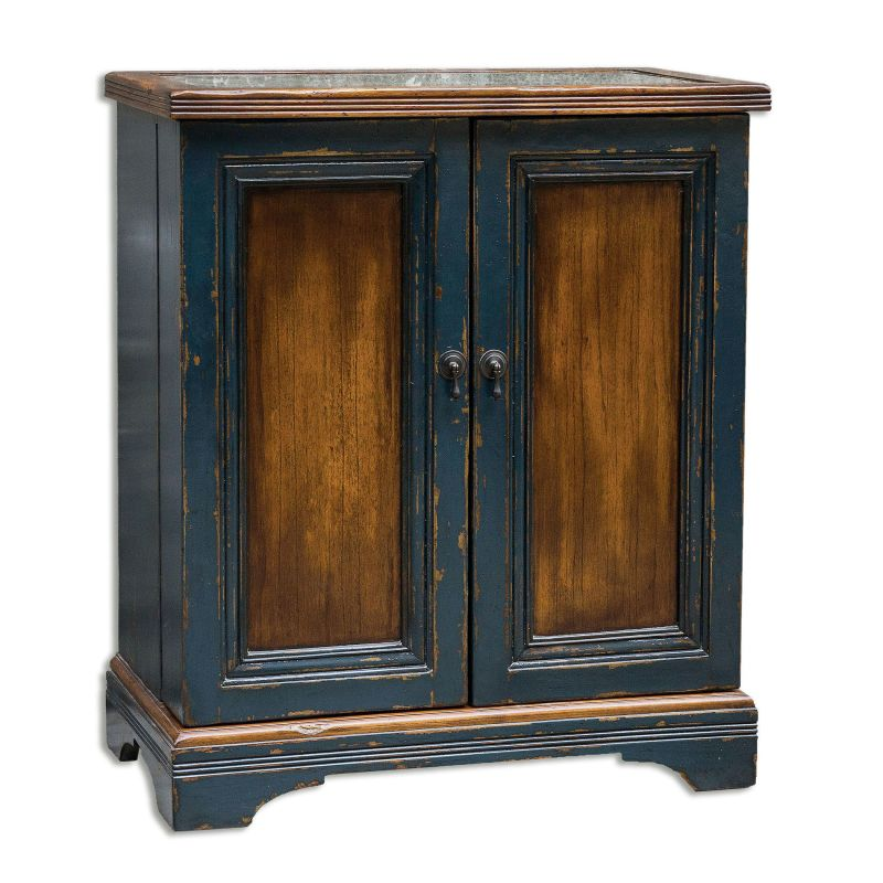 "Uttermost 25663 Agacio 38"" x 32"" Mahogany Wood Cabinet Honey Brown"