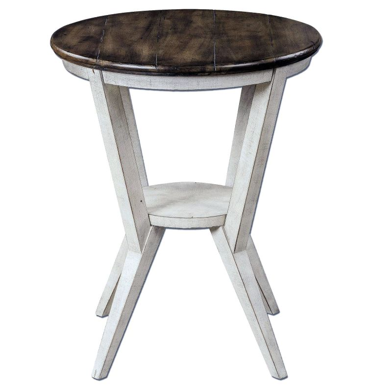 "Uttermost 25915 Delino 27"" x 22"" End Table Acacia Furniture End Tables"