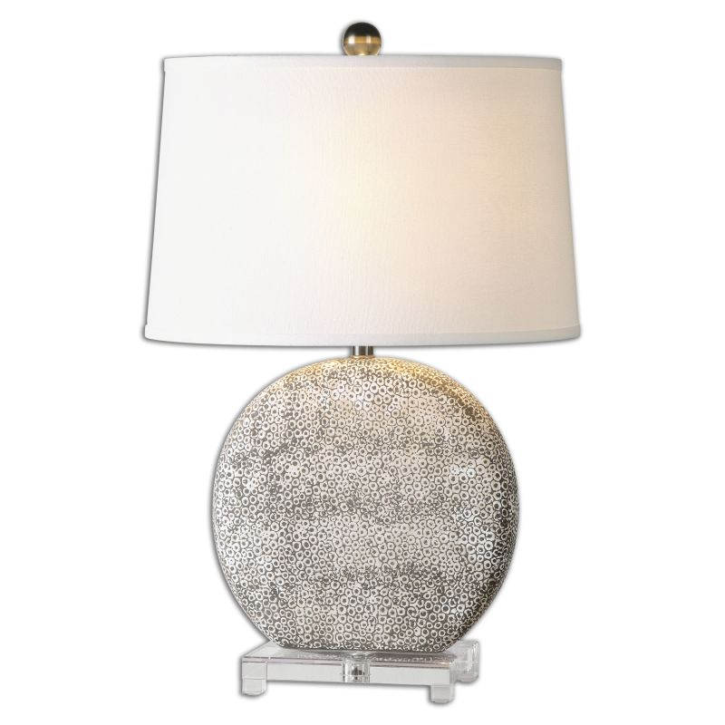 Uttermost 26132 Albinus 1 Light Table Lamp Aged Ivory Lamps