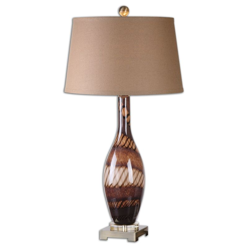Uttermost 26153 Domitia 1 Light Table Lamp Rust Brown with Brushed Sale $261.80 ITEM: bci2548571 ID#:26153 UPC: 792977261538 :