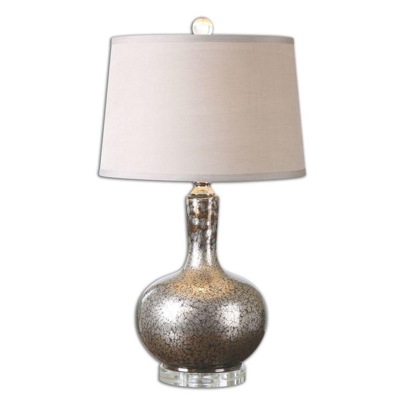 Uttermost 26157 Aemilius 1 Light Table Lamp Mottled Mercury Glass Sale $215.60 ITEM: bci2548574 ID#:26157 UPC: 792977261576 :
