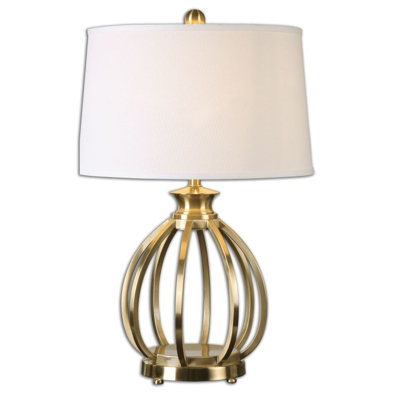 Uttermost 26167 Decimus 1 Light Table Lamp Brushed Brass Lamps