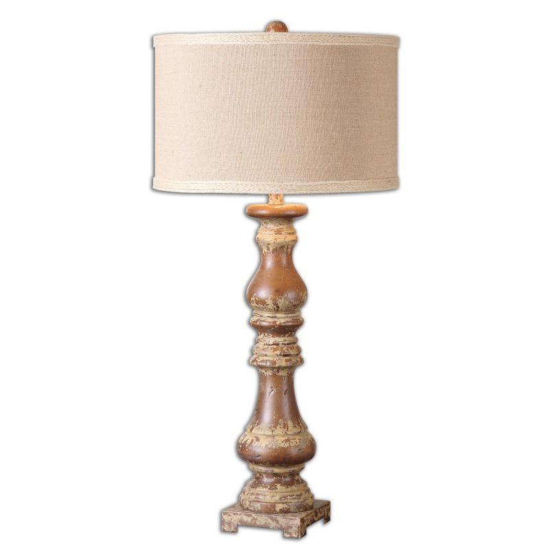 Uttermost 26175-1 Montoro 1 Light Table Lamp Distressed Ivory Lamps