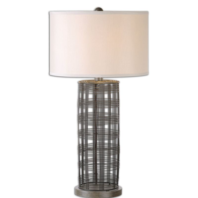 Uttermost 26177-1 Engel 1 Light Table Lamp Dark Rustic Bronze Lamps