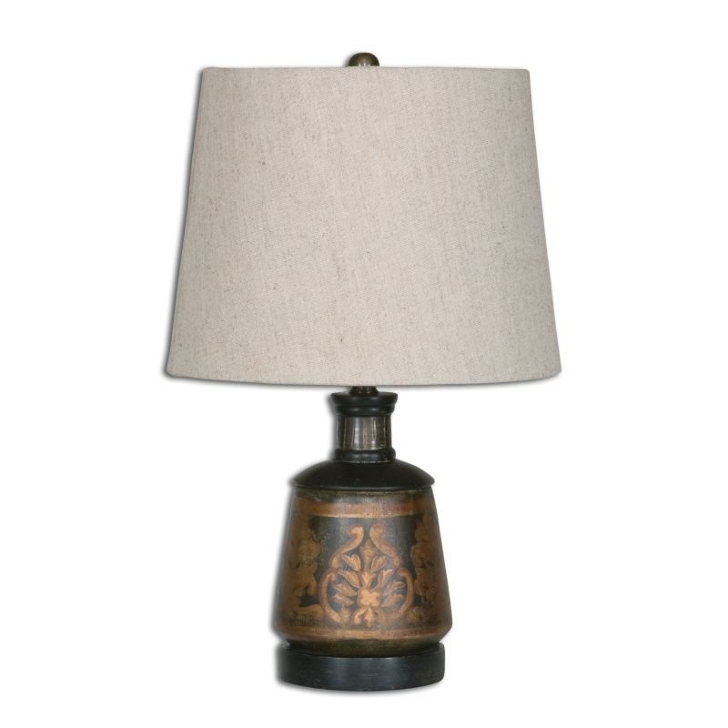 Uttermost 26211 Mela 1 Light Table Lamp Aged Black and Antiqued Gold Sale $107.80 ITEM: bci2548599 ID#:26211 UPC: 792977262115 :