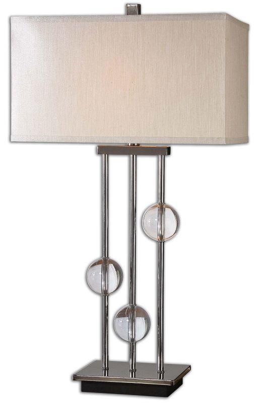 Uttermost 26280-1 Rodeshia 1 Light Table Lamp Black Chrome with
