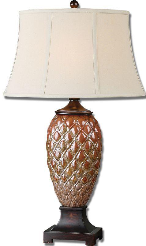 Uttermost 26284 Pianello Table Lamp Mottled Rust Brown Lamps
