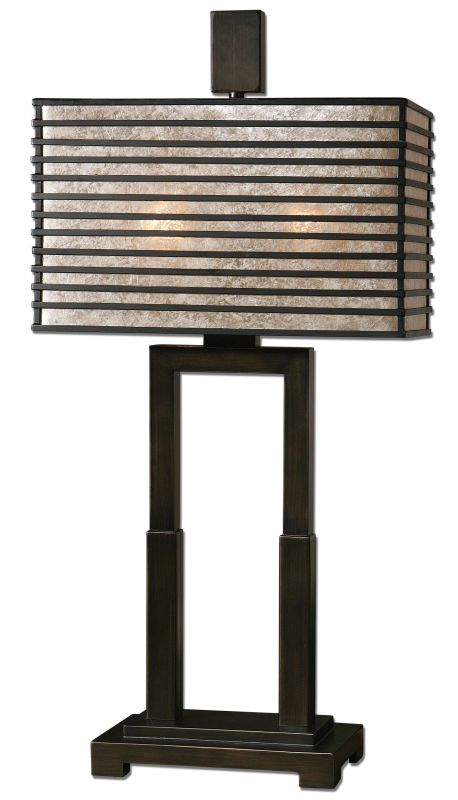 Uttermost 26291-1 Becton Modern Metal Table Lamp Oil Rubbed Bronze
