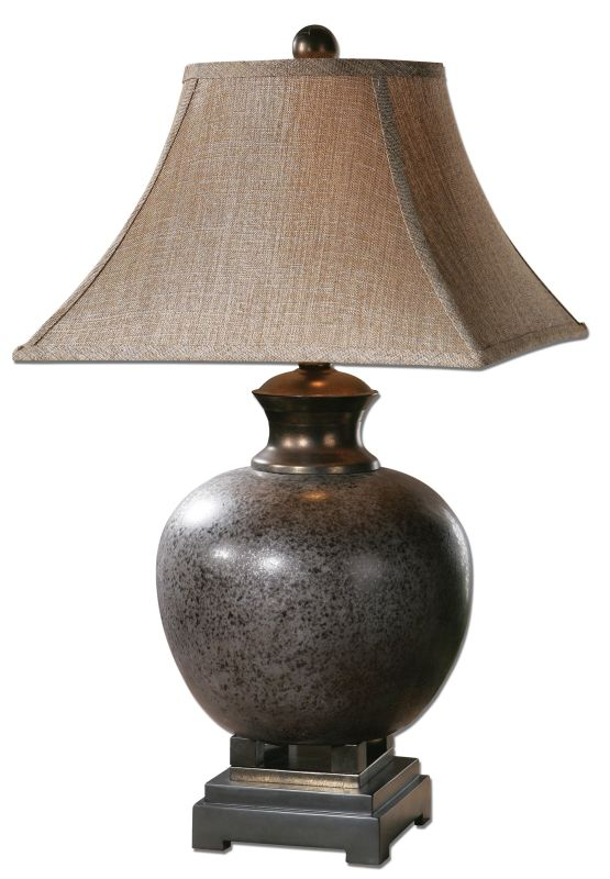Uttermost 26292 Villaga Distressed Table Lamp Mottled Rust Brown Lamps
