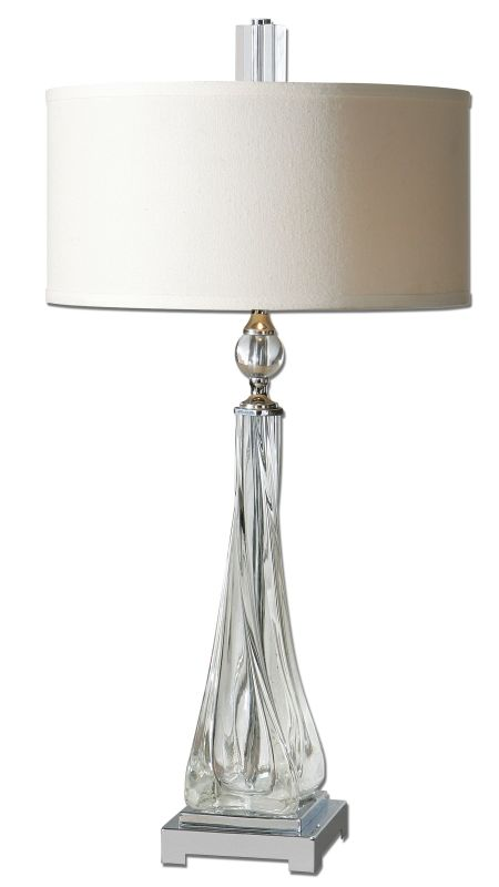 Uttermost 26294-1 Grancona Twisted Glass Table Lamp Glass Lamps