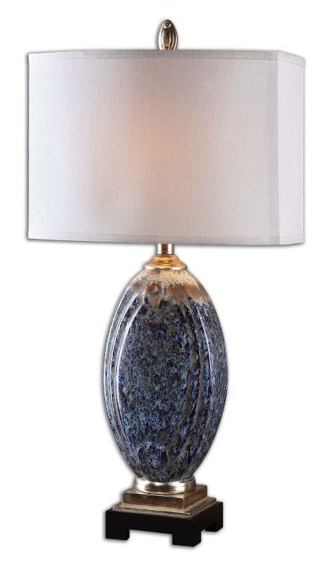 Uttermost 26298-1 Latah 1 Light Table Lamp Mottled Blue with Rust