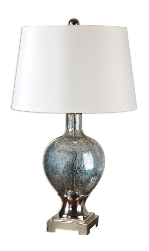 Uttermost 26490 Mafalda 1 Light Table Lamp Mercury Blue Lamps Sale $217.80 ITEM: bci2244234 ID#:26490 UPC: 792977264904 :