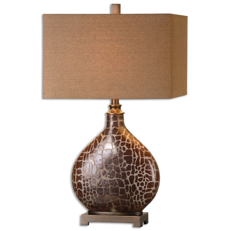 Uttermost 26504-1 Somali 1 Light Table Lamp Burnished Brown with Dark Sale $217.80 ITEM: bci2612185 ID#:26504-1 UPC: 792977265048 :