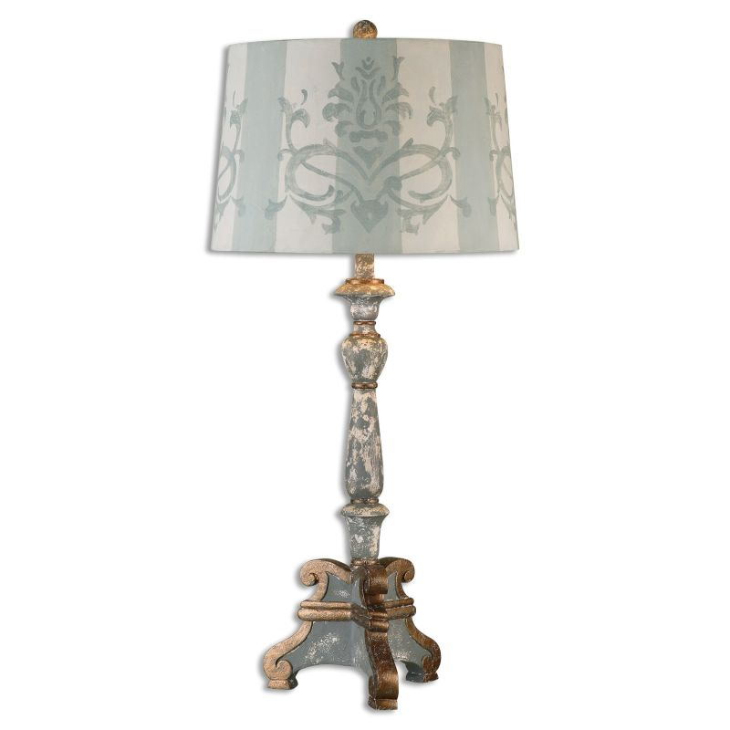 Uttermost 26607 Trimonte 1 Light Table Lamp Hand Painted Dark Gray Sale $248.60 ITEM: bci2612196 ID#:26607 UPC: 792977266076 :